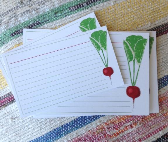 Radish recipe cards