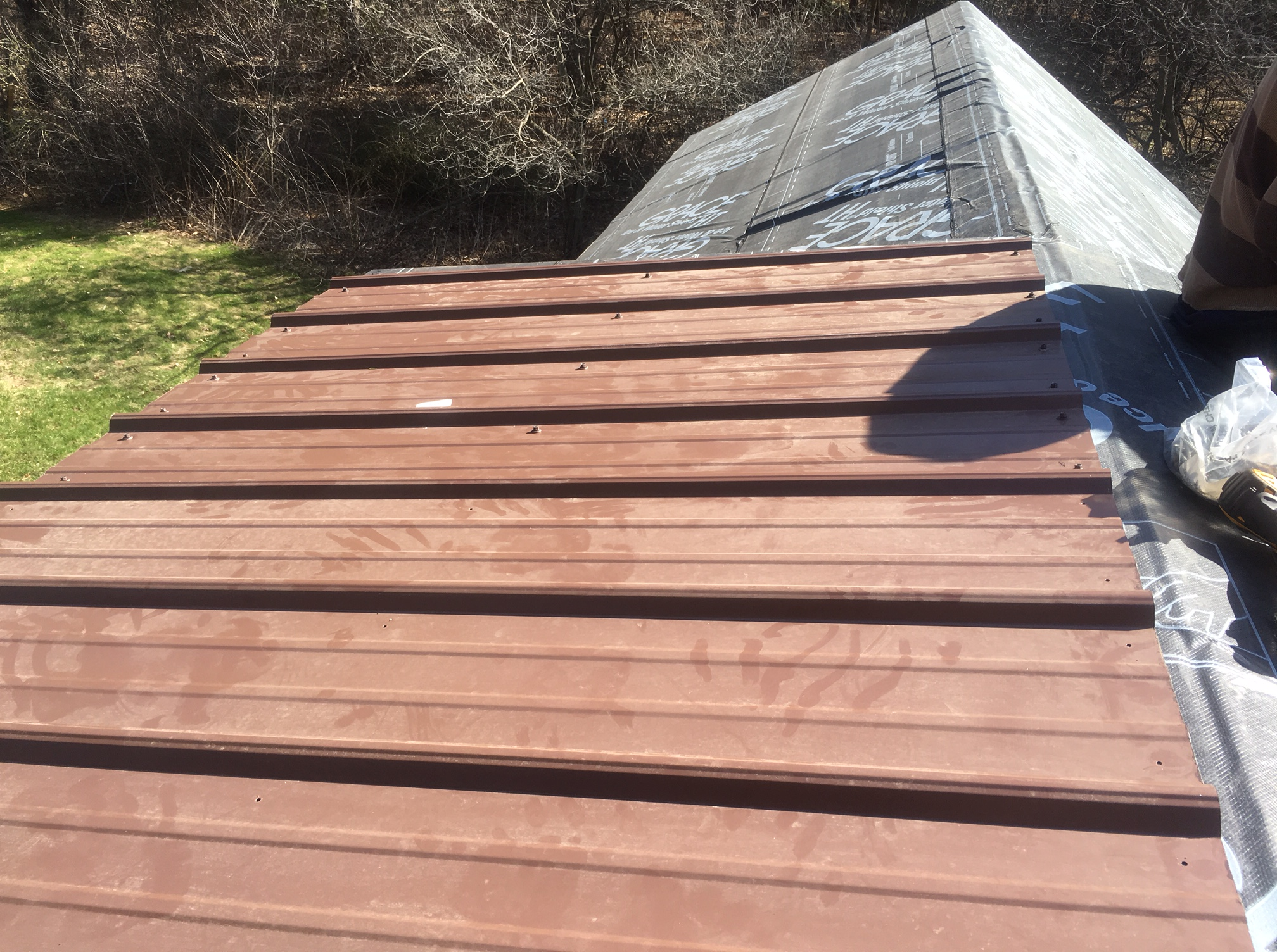 Last Fall Just After The House Walls Went Up, I Was Trolling Craigslist For  Materials When A Kind Soul Posted Dark Brown Corrugated Metal Roofing For  Sale, ...
